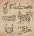 Israel - An hand drawn collection pack vector image vector image