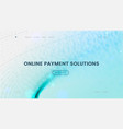 landing page template with a blue particles vector image vector image