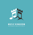 logo design idea for music store vector image vector image