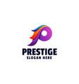 logo prestige gradient colorful style vector image