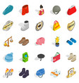 luggage icons set isometric style vector image vector image