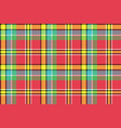 madras check plaid pixeled seamless texture vector image vector image
