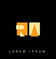 modern creative shaped ra ar r a logo initial