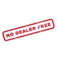 No Dealer Free Rubber Stamp vector image