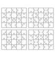 parts four white puzzles vector image