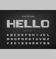 pencil bold font and alphabet sketch design vector image vector image