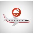 Plane travel weather forecast rain sun icon