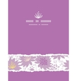Purple shadow florals vertical torn seamless vector image vector image