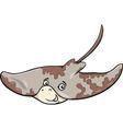 ray fish cartoon vector image vector image