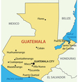 Republic of Guatemala - map vector image vector image