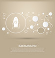 rocket icon on a brown background with elegant vector image vector image