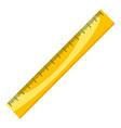 ruler measure education icon horizontal tool vector image