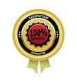 Satisfaction guarantee label eps 10 vector image vector image