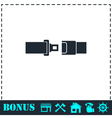 Seat belt icon flat vector image