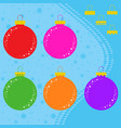 set of flat colored isolated christmas balls in vector image