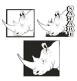 set of logos depicting the rhino vector image