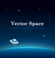 Space Planets Background vector image