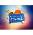 Summer trip logo design vector image vector image