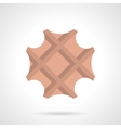 Sweet waffle flat color design icon vector image
