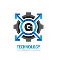 technology concept logo design letter g creative vector image vector image