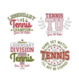 Tennis Badge Set vector image