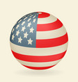 us flag in the shape of a ball icon isolated on vector image vector image