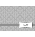 vector small ribbon frame and background vector image vector image