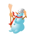 Very cute snowman for Christmas vector image vector image