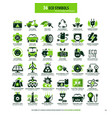 36 symbols for eco energy and transport vector image