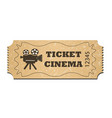 a cinema ticket isolated on a white background vector image vector image