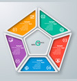 abstract 3d paper infographics vector image vector image