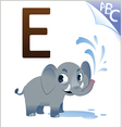 animal alphabet for kids e for elephant vector image vector image