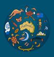 australian doodle set vector image vector image