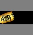 black friday golden wide banner design