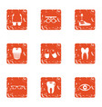 body parts replacement icons set grunge style vector image vector image
