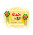 brazil festa junina celebration background vector image vector image
