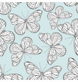 butterflies hand drawing seamless pattern vector image