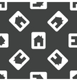 Card with house pattern vector image vector image
