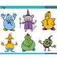 cartoon fantasy characters set vector image vector image