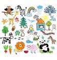 children drawings vector image