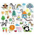 Childrens drawings vector image vector image