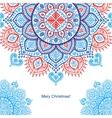 Christmas snowflake mandala ornament vector image