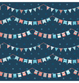 Colorful pattern with bunting and garland vector image vector image