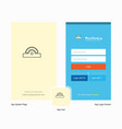 company cutter splash screen and login page vector image vector image