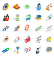 conference center icons set isometric style vector image vector image