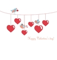 Cute birds celebrating Valentines Day vector image vector image