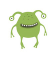 cute monster on white isolated vector image vector image