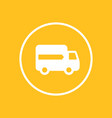 delivery icon in circle vector image vector image