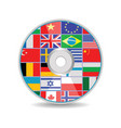 disk with flags vector image vector image
