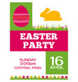 easter party invitation poster flyer design vector image vector image